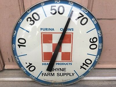 Vintage Purina Chows Health Products Pam Clock Thermometer