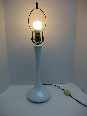 Near Mint Orig Vintage White Mid Century Modern Laurel Tulip Genie Table Lamp