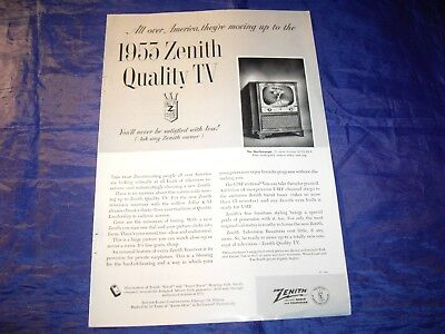 "1953 Zenith Quality TV Ad Measuring approximately 6 3/4"" x 10"""