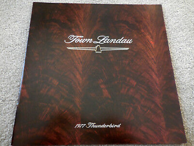 Original 1977 Ford THUNDERBIRD Town Landau catalog brochure mint