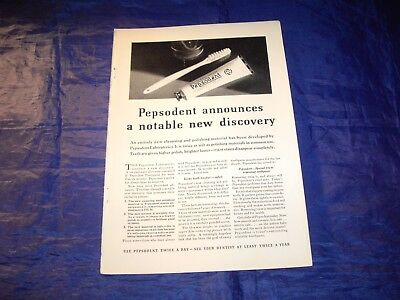 "1932 Pepsodent Print Ad Measuring 6 3/4"" x 10"""