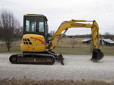 2006 New Holland Eh35 Mini Excavator / Cab With Heat / 3-Buckets / Exc Cond / Nr