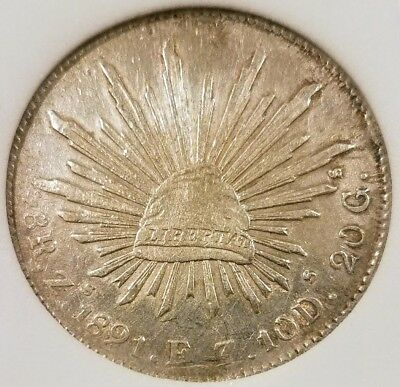 """Mexico 8 Reales 1891 Zs Silver, WORLD CURRENCY OF 1800'S - """"Piece of Eight"""""""