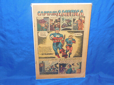 Captain America #76 Human Torch Story 1954 Atlas / Marvel Coverless Golden Age