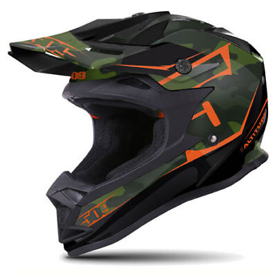 509 Altitude Matte Orange Camo Off Road Snowmobile Winter Helmet Xl 2X