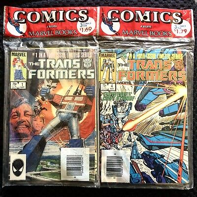 Marvel Transformers #1-3, #4-6 Unread Factory Sealed Retailer 3-Pack *nm 1984