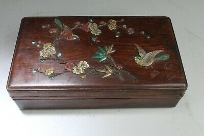 A Rosewood Box with Mother Pearl Inlay
