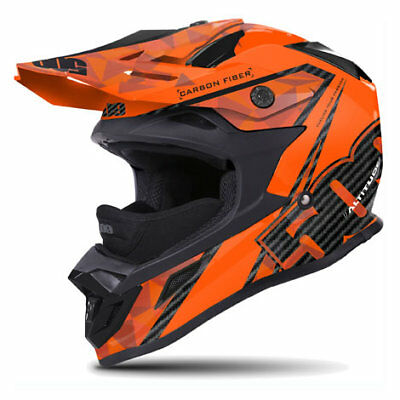 509 Altitude Matte Carbon Fiber Orange Black Off Road Snowmobile Winter Helmet