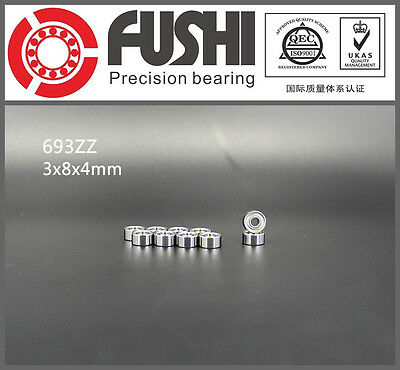693ZZ Bearing 3x8x4 mm ABEC-7 (10PCS) Miniature 693 Z ZZ Ball Bearings 693-2Z