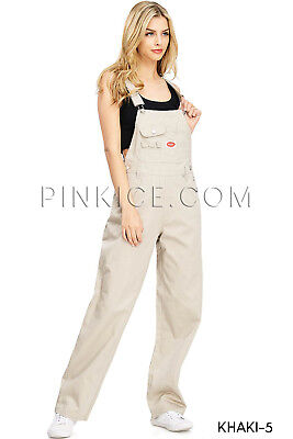 Women's Vintage Baggy Twill Canvas Classic Oversized Overalls