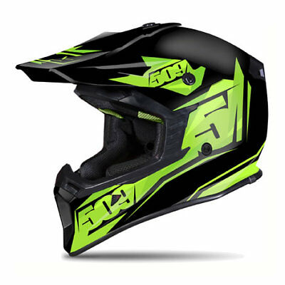 509 Tactical Matte Lime Green Black Off Road Snowmobile Winter Helmet Xl