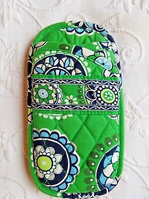 Vera Bradley Eye Glasses Case Green Cupcake Gently Used