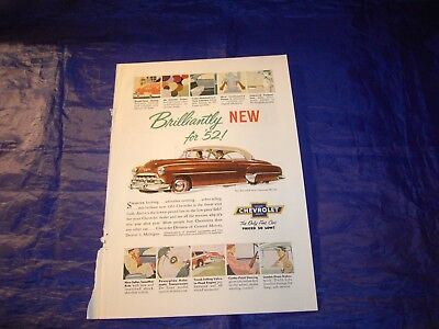 "1952 Chevrolet ""Brilliantly New for '52"" Print Ad"
