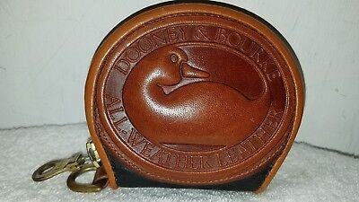 Vintage Dooney and Bourke Black & Tan Big Duck Coin Purse AWL