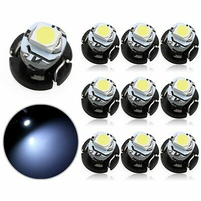 10Pcs T3 LED Neo Car Wedge Instrument Dashboard Gauge Cluster Bulbs Light White