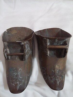 Antique Pair of Brass Conquistador Stirrups Matching - Spanish Boot Equestrian