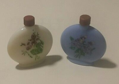 two vintage Lownds Pateman perfumes. 3/4 full bottles. violet and lilac scented.