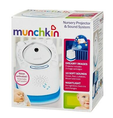 Munchkin Baby White Noise Machine Sleep Sound Therapy and Nursery Projector