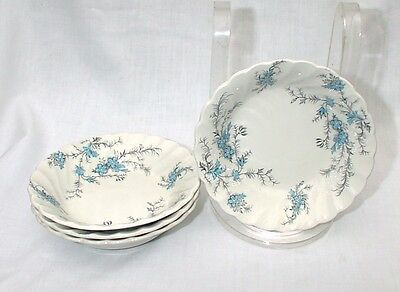 Myott Staffordshire Sound of Music Four Cereal Bowls M 928 PU Forget Me Nots