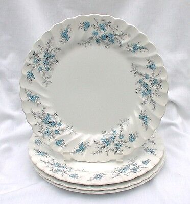 Myott Staffordshire Sound of Music Four Dinner Plates M 928 PU Forget Me Nots