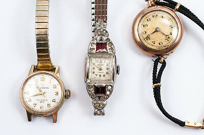 Lot of 10 Vintage Mechanical Women's Watches Gold Filled And Plated