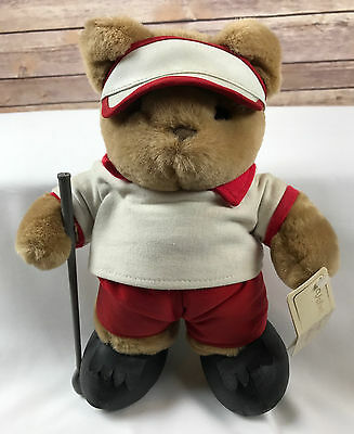 "Vintage 11"" Jerry Elsner Golf Bear Velvet Touch Collection Plush Toy"