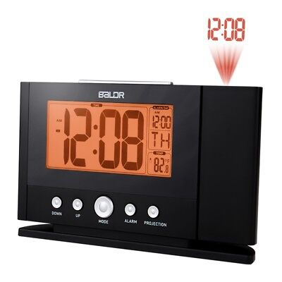 Ambient Weather Projection Clock Temperature Alarm  Time Temp Diplay Gift New