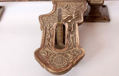 1800's Antique Brass Decorated Hand Made Indian Vintage Door Handel Collectible