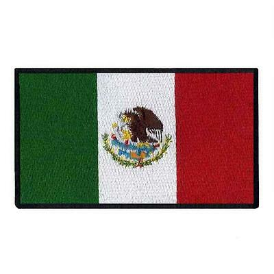 """MEXICO FLAG IRON ON PATCH 3"""" Embroidered Applique Mexican Pride National Emblem"""