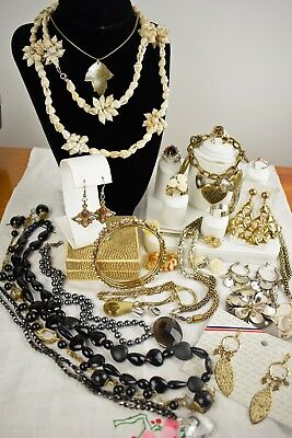 Big Job Lot of Vintage & Modern Jewellery including Unused Pieces, Shell, Stone