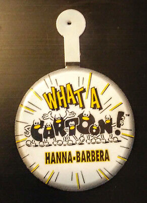 Hanna Barbera What A Cartoon 1995 Button Pin Promotion Promo Tab Cap Tin