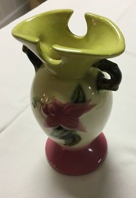 Hull USA Pottery Woodland Green W-4 6 1/2 Vase - Rare, Vintage, Great Condition!