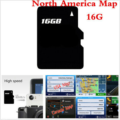 16GB Card USA Canada Mexico Map Software GPS Navigation For WIN CE System Device