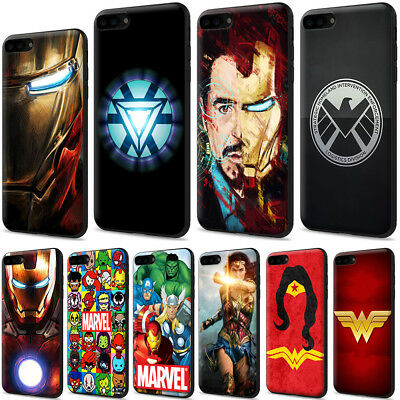 Iron Man Marvel Comics Wonder Woman TPU Case for iPhone XS Max X 8 7 6 6s Plus