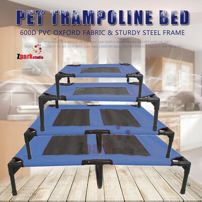 Pet Bed Trampoline Dog Puppy Cat Heavy Duty Frame Hammock Mesh S M L XL AU Stock