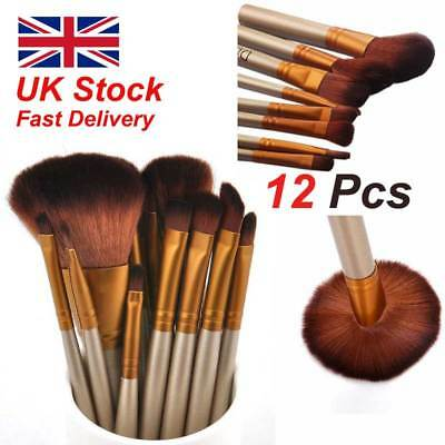 12pcs/ Set Kabuki Style Pro Make up Brushes Brush Makeup Foundation Blusher ur#