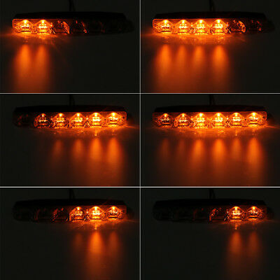 New 1 Pair Car daytime LED light Turn Signal Lamps 6LED DRL Waterproof Daylight