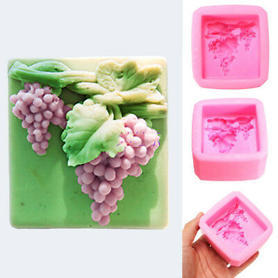 Grape Silicone Soap mold Craft Molds DIY Handmade soap mould