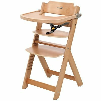Safety 1st High Chair Baby Child Feeding Adjustable Timba Natural Wood 27620100