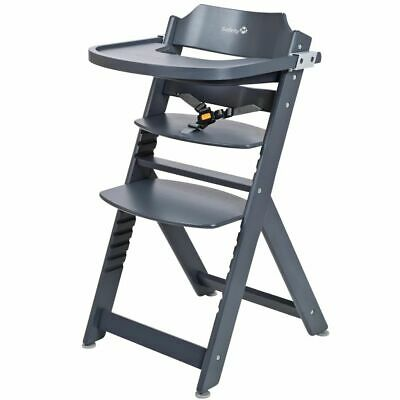 Safety 1st High Chair Baby Feeding Adjustable Timba Anthracite Wood 27625510