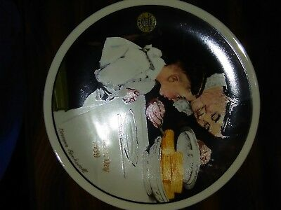 """Norman Rockwel """"Sunday Dinner"""" Fine China Collector's Plate"""