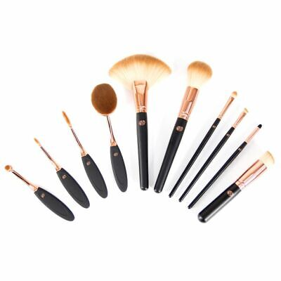 Rio Ten Piece Make-up Cosmetic Brush Set Eyebrow Lip Shadow Concealer BRCO