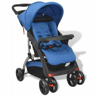 vidaXL Buggy Kids Trolley Travelling Stroller Baby Toddler Pram Pushchair Blue