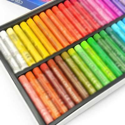 50 Color Waterproof Oil Pastels Box Set Inscribe Artist Drawing Assorted Craft