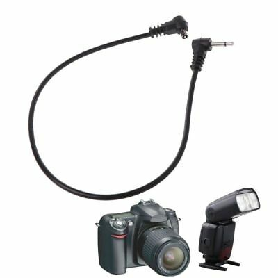 """PC Sync Cables 30cm 12'' 3.5mm 1/8"""" Cord Plug Jack for Male Flash Trigger Camera"""