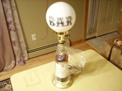 Canadian Club Whiskey Bottle Lamp - New Old Stock - Never Used -