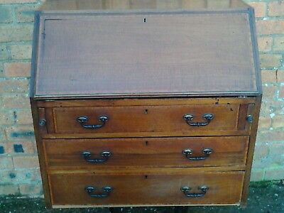 Edwardian Inlaid Mahogany Fall Front Bureau chest. Delivery available.