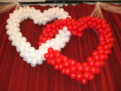 "5"" Small Red White Valentines Day Celebration Balloons Standard Fininsh baloons"