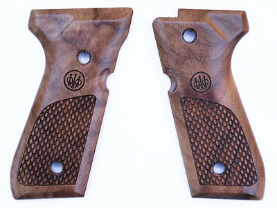 Beretta Factory Checkered Wood Pistol Grips for 92 92F 92FS 96F 96FS E00219 New