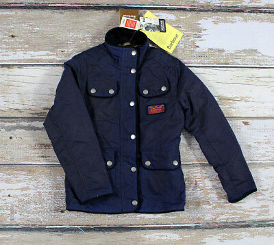 Barbour International Glencoe Child Waxed Cotton Parka Jacket Coat New With Tags